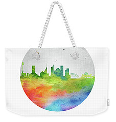 Sydney Skyline Ausy20 Weekender Tote Bag by Aged Pixel