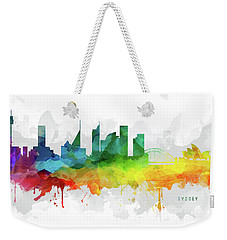 Sydney Skyline Mmr-ausy05 Weekender Tote Bag by Aged Pixel