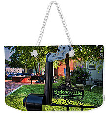 Weekender Tote Bag featuring the photograph Sykesville Main St Sign by Mark Dodd