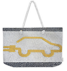 Symbol For Electric Car Weekender Tote Bag