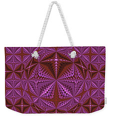 Symmetrical Pattern, Kaleidoscope Weekender Tote Bag