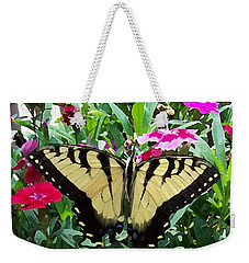 Weekender Tote Bag featuring the photograph Symmetry by Sandi OReilly