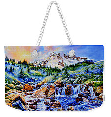 Weekender Tote Bag featuring the painting Symphony Of Silence by Hanne Lore Koehler