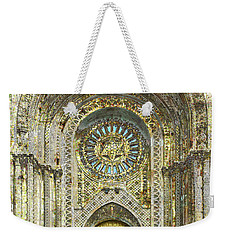 Weekender Tote Bag featuring the mixed media Synagogue by Tony Rubino