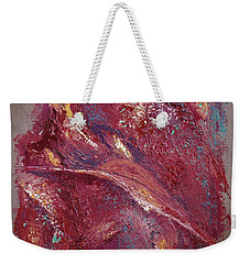 Weekender Tote Bag featuring the painting Syncopation 4 by Mini Arora