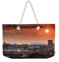 Syracuse Sunrise Over The Dome Weekender Tote Bag by Everet Regal