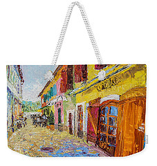 Szentendre Street With Restaurants Weekender Tote Bag