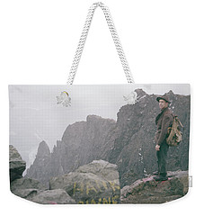 T-04701 Fred Beckey On Mt. Si 1958  Weekender Tote Bag