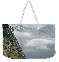 T-404101 Climbers On Sleese Mountain Weekender Tote Bag
