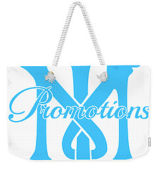 Weekender Tote Bag featuring the drawing T And M Promotions Logo by Nicholas Grunas