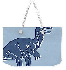 T-rex In Blue Weekender Tote Bag