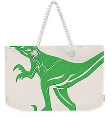 T-rex Weekender Tote Bag by Linda Woods