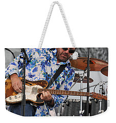 Tab Benoit Plays His 1972 Fender Telecaster Thinline Guitar Weekender Tote Bag