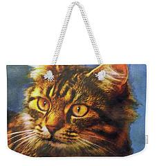 Tabby Blue Weekender Tote Bag