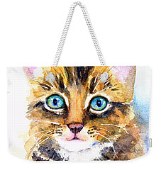 Tabby Kitten Watercolor Weekender Tote Bag