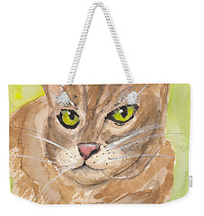 Tabby With Attitude Weekender Tote Bag by Terry Taylor