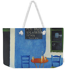 Table For Two Greece Weekender Tote Bag by Joe Gilronan