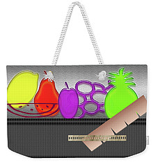 Weekender Tote Bag featuring the photograph Table Fruits by Tina M Wenger