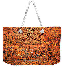 Table Graffiti Weekender Tote Bag by Todd Klassy