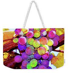 Table Grapes Weekender Tote Bag by Timothy Bulone