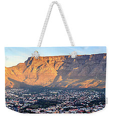 Weekender Tote Bag featuring the photograph Table Mountain by Alexey Stiop