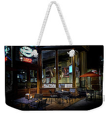 Tables At Night Weekender Tote Bag