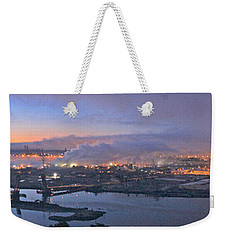 Tacoma Dawn Panorama Weekender Tote Bag by Sean Griffin