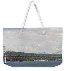 Tacoma Narrows Bridge Panorama Weekender Tote Bag