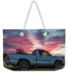 Toyota Tacoma Trd Truck Sunset Weekender Tote Bag
