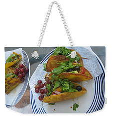 Weekender Tote Bag featuring the photograph Tacos Almost Mirrored by Marie Neder
