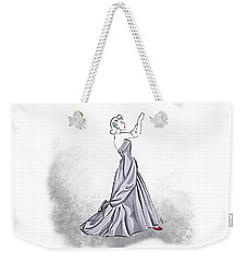 Weekender Tote Bag featuring the digital art Taffeta Gown by Cindy Garber Iverson