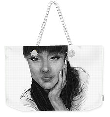 Ariana Grande Drawing By Sofia Furniel Weekender Tote Bag