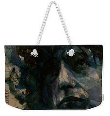 Tagged Up In Blue- Bob Dylan  Weekender Tote Bag