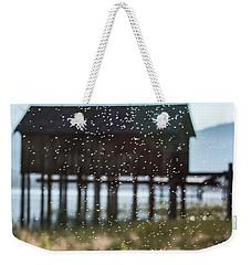 Tahoe Boat House Flies Weekender Tote Bag