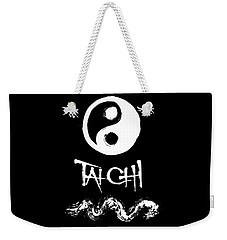 Tai Chi Black Weekender Tote Bag