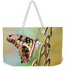 Weekender Tote Bag featuring the photograph Tailed Jay by Grant Glendinning