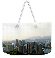 Taipei In Panorama Weekender Tote Bag