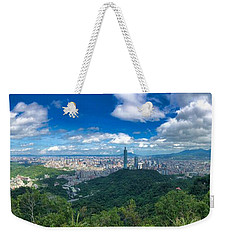 Weekender Tote Bag featuring the photograph Taipei Panorama by Brian Eberly