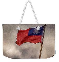 Taiwan Flag Weekender Tote Bag by Bill Owen