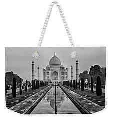 Taj Mahal In Black And White Weekender Tote Bag