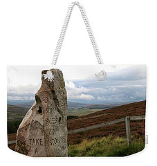 Weekender Tote Bag featuring the photograph Take A Moment by Rasma Bertz