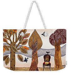 Take A Rest In Autumn Weekender Tote Bag