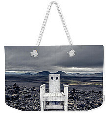 Weekender Tote Bag featuring the photograph Take A Seat Iceland by Edward Fielding