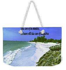 Weekender Tote Bag featuring the photograph Take Care Of The Minutes by Gary Wonning