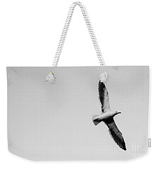 Take Flight, Black And White Weekender Tote Bag