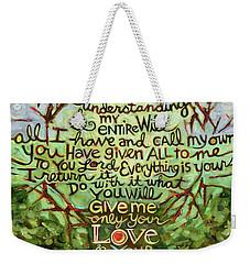 Take Lord, Receive Weekender Tote Bag