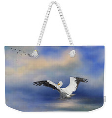 Weekender Tote Bag featuring the photograph Take Off By The Sea by Kim Hojnacki