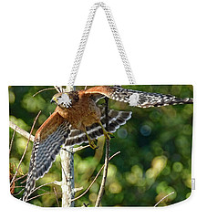 Weekender Tote Bag featuring the photograph Take Off by Don Durfee