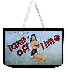 Weekender Tote Bag featuring the photograph Take-off Time by Kathy Barney