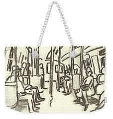 Take The A Train, Nyc Weekender Tote Bag